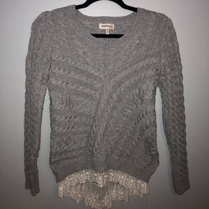 Grey sweater- perfect for fall!